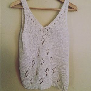 Vintage knitted tank top